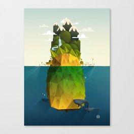 Pineapple isle Canvas Print