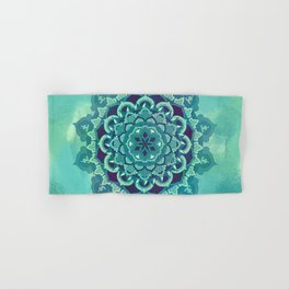 Green Blue Mandala Design Hand & Bath Towel