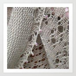 Bougainville lace Art Print