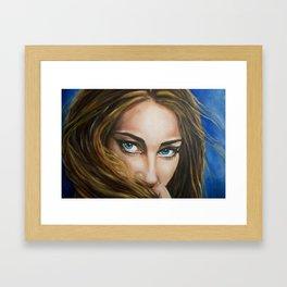 Intense Gaze Oil Painting detail Framed Art Print