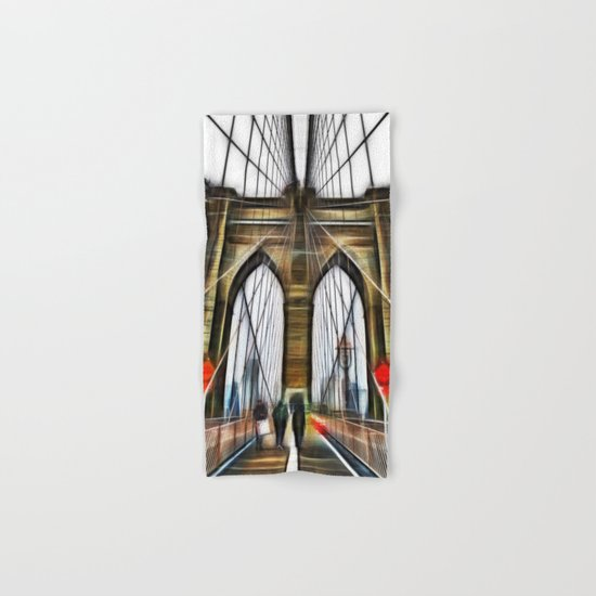 Brooklyn Bridge NYC Hand & Bath Towel