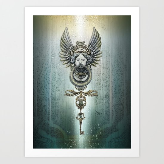 the key and the door Art Print