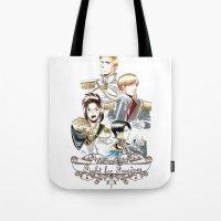 shingeki no kyojin Tote Bags featuring OriSor Shingeki No Kyojin Royal Fanart  Attack on Titan by Mistiqarts by Mistiqarts
