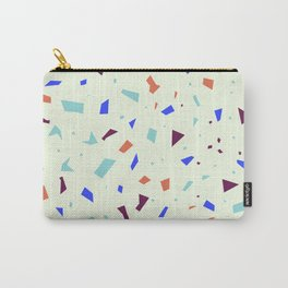 Vibrant Pastel Terrazzo - Blue and Orange Speckle Marble Granite Pattern Carry-All Pouch