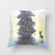 lonely holiday Throw Pillow