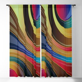 Abstract Earth Tone Swirl Colors Blackout Curtain