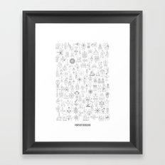 FOREVER DOODLING Framed Art Print