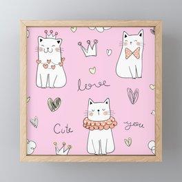 LOVELY CATS  Framed Mini Art Print