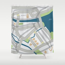 The Streets of Zurich Shower Curtain