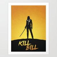 kill bill Art Prints featuring Kill Bill by Nick Kemp