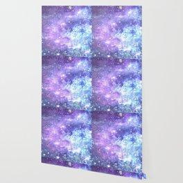 Grunge Galaxy Lavender Periwinkle Blue Wallpaper