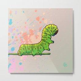 Catterpillar  colorburst Metal Print