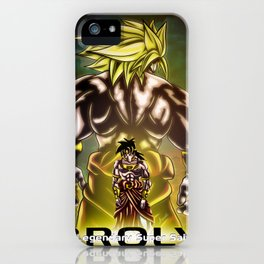 The Incredible Broly iPhone Case