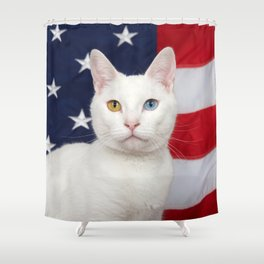 Ameri-Cat the beautiful Shower Curtain