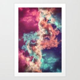 Yin Yang Painted Clouds Art Print