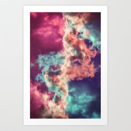Yin Yang Painted Clouds Art Print