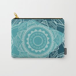 Singing white mandala Carry-All Pouch