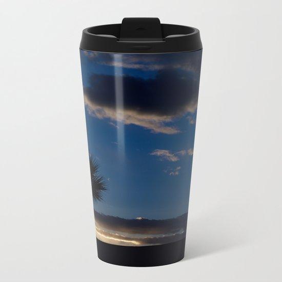 Palm Sunset - IV Metal Travel Mug