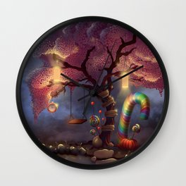 Candy Wonderland Tree Wall Clock
