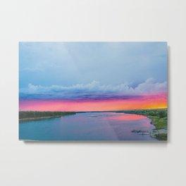 Stormy June Sunset, North Dakota 5 Metal Print
