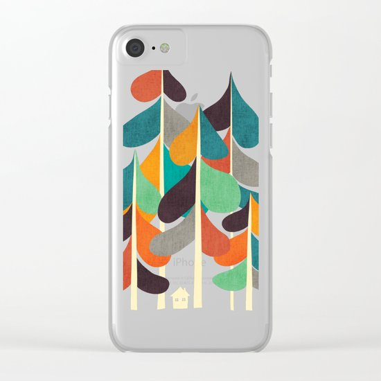 Cabin in the woods Clear iPhone Case