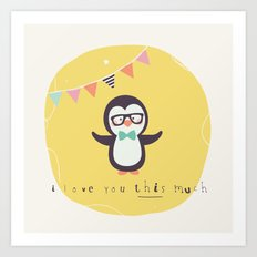 Pete Penguin Art Print