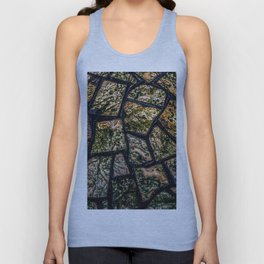 Colorful stainglass pattern Unisex Tank Top