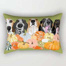 Coonhounds and Gourd Rectangular Pillow