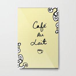 Cafe Au Lait II Metal Print