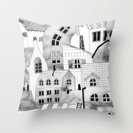 COMPACT CITY Throw Pillow
