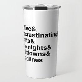 Deadlines Helvetica Travel Mug