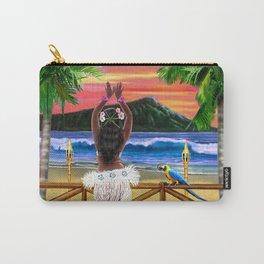Hawaiian Sunset Hula Dancer Carry-All Pouch