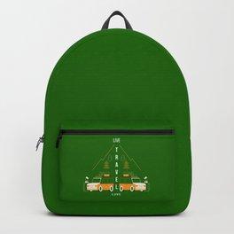 Live Travel Love - Green Backpack