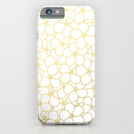 Forget Me Knot White Gold iPhone Case