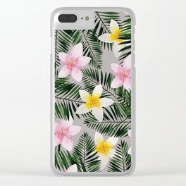 Leave Me Aloha in Grey Clear iPhone Case