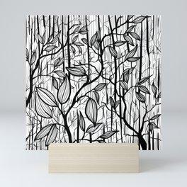 Forrest Line drawing  Mini Art Print