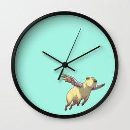 Flying Capybara Wall Clock