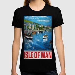 Isle of Man Vintage Travel Poster T-shirt
