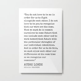 17  | Audre Lorde Quotes | 200607 | Metal Print