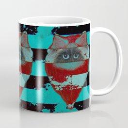Felis catus, Himalayan cat with stripes Coffee Mug