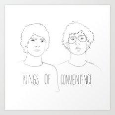 Kings of Convenience Art Print