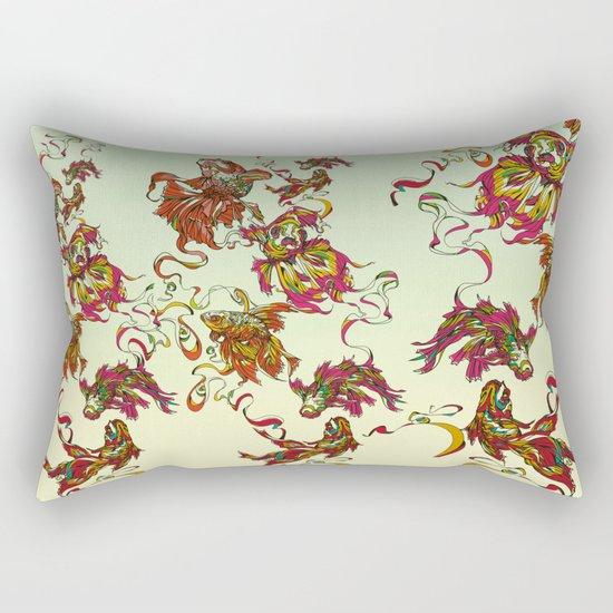 Tanged Veiltail Rainbow Rectangular Pillow