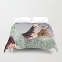 llama Duvet Covers featuring Llama by Big AL
