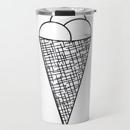 Ice cream cone - cornet de glace Travel Mug