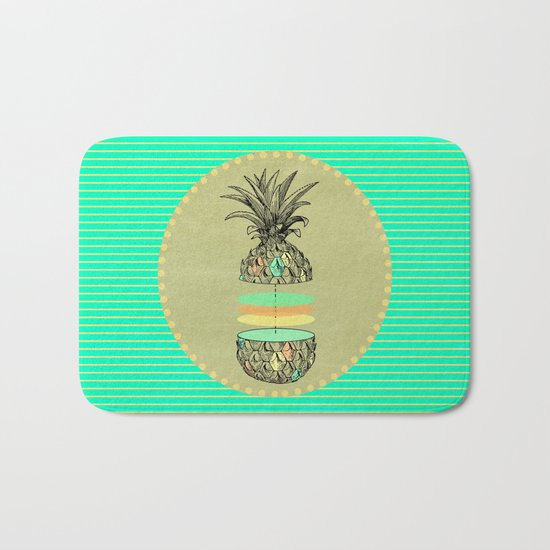 Sliced pineapple Bath Mat