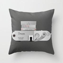 The dream Camera. Leica Throw Pillow