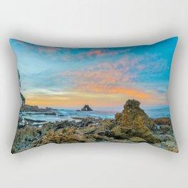 Tide Pool Sunrise at Arch Rock Rectangular Pillow