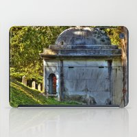 tomb raider iPad Cases featuring The Tomb by Anthony M. Davis