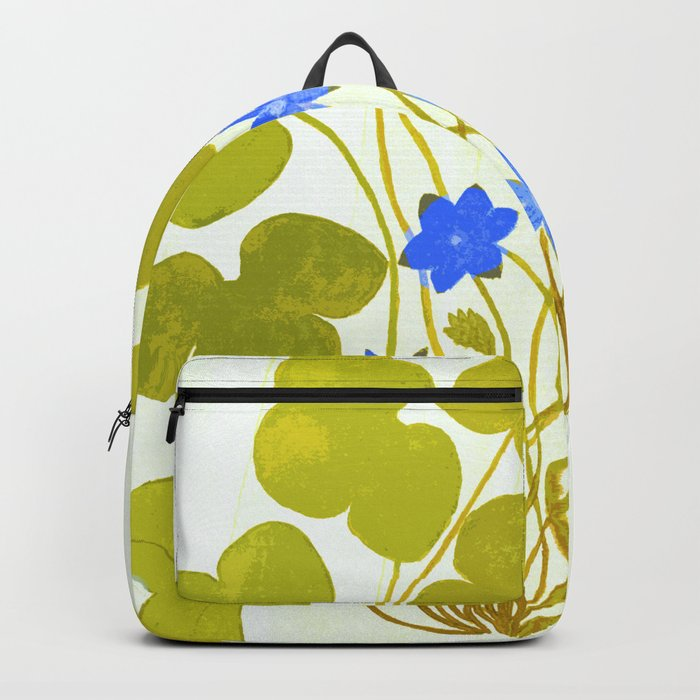 The blue and the green Backpack