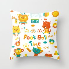 football time Throw Pillow